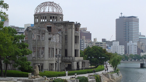 Atomic Bomb Dome (Genbaku Dome) beside Ōta River, Hiroshima, Japan