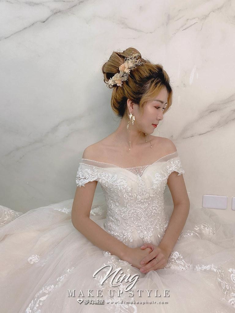 【新秘羽寧】新娘造型創作 / 日系高花苞