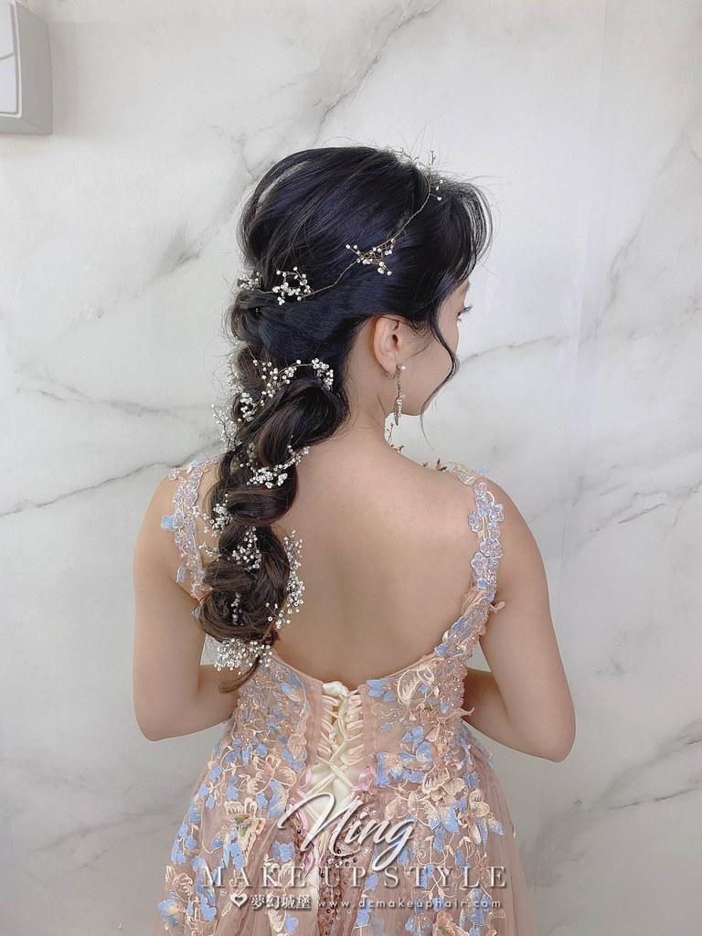 【新秘羽寧】新娘造型創作 / 仙氣後編髮