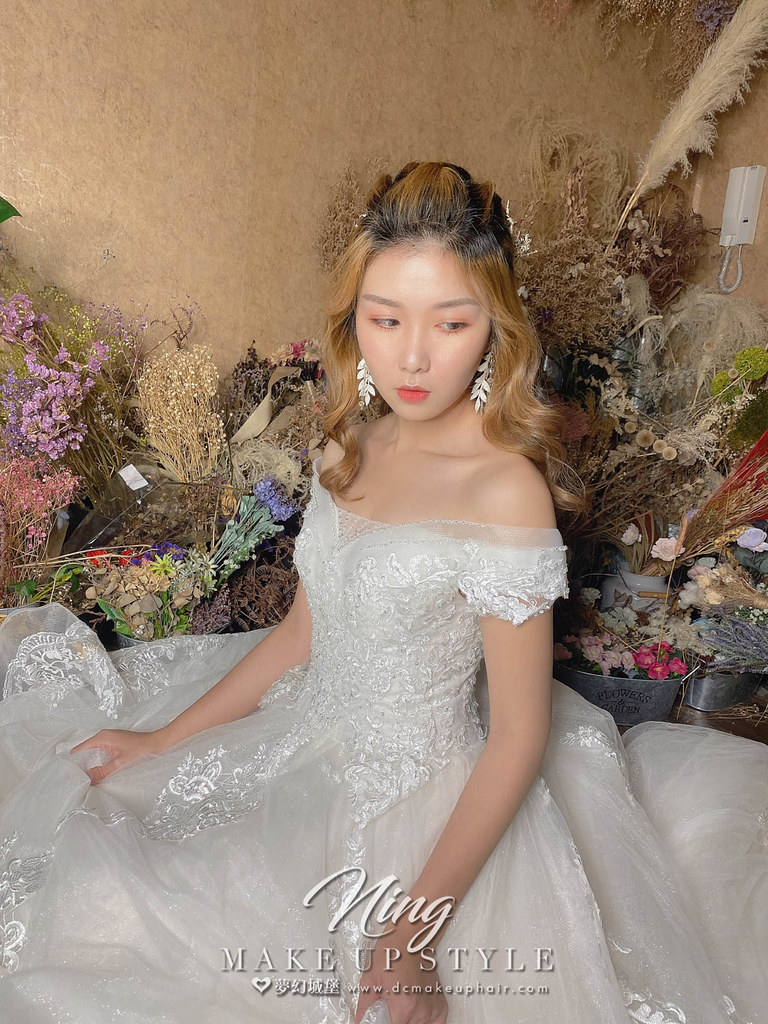 【新秘羽寧】新娘造型創作 / 乾燥花公主頭