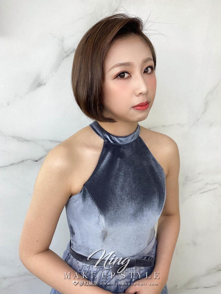 【新秘羽寧】新娘造型創作 / 短髮-簡約風