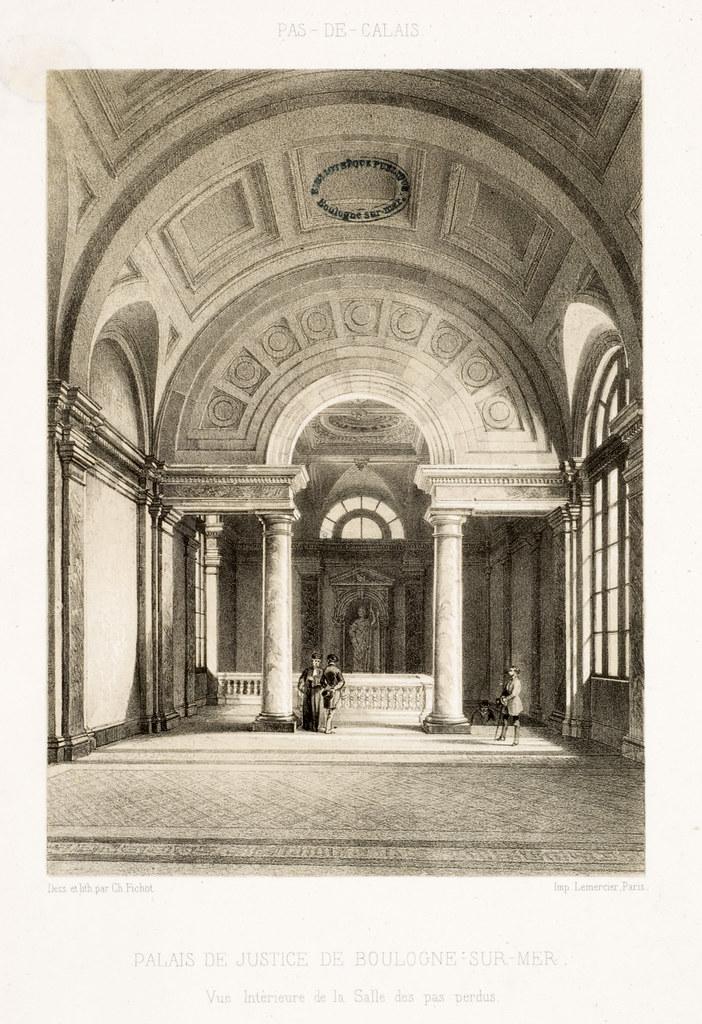 vue intérieure de la salle des Pas perdus-19e s.