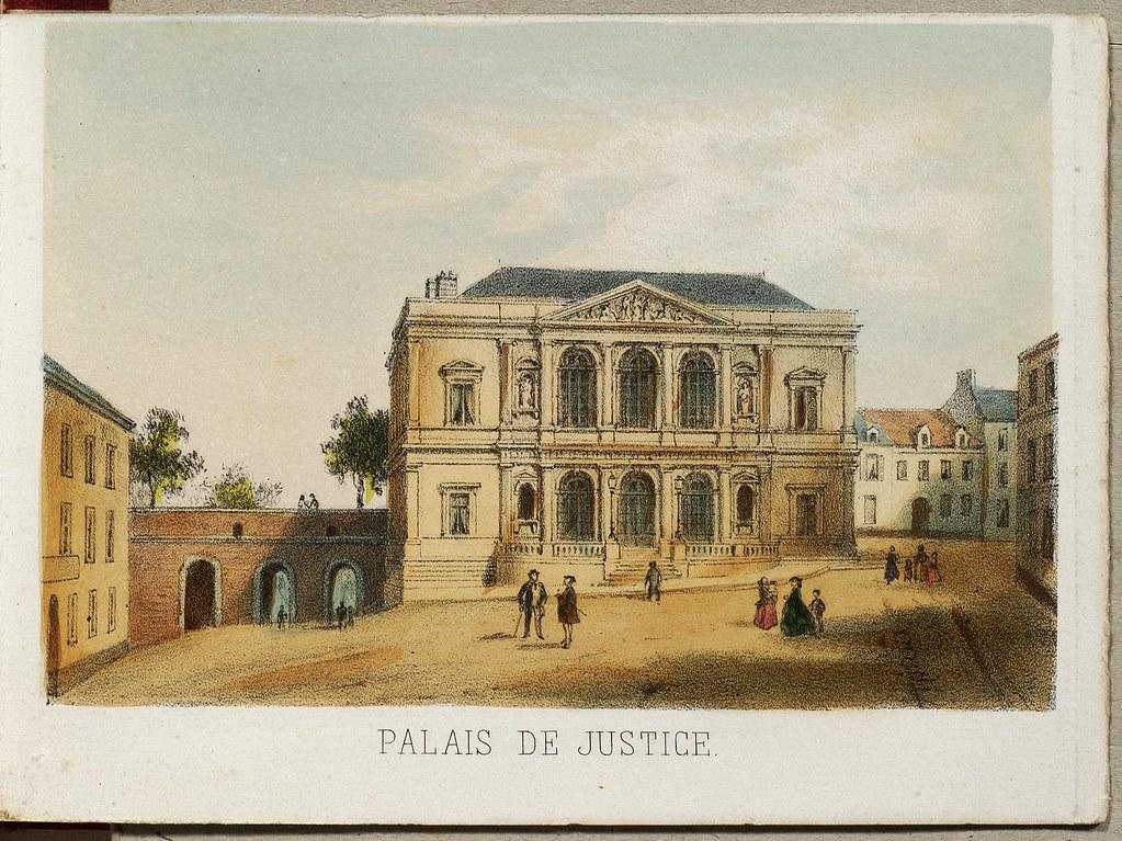 Palais de Justice lithographie 19e