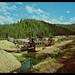 Gold Dredge on Crooked Creek, circa 1960s - Elk City, Idaho