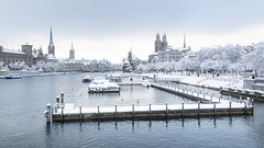 Classic View of Zurich in Winter