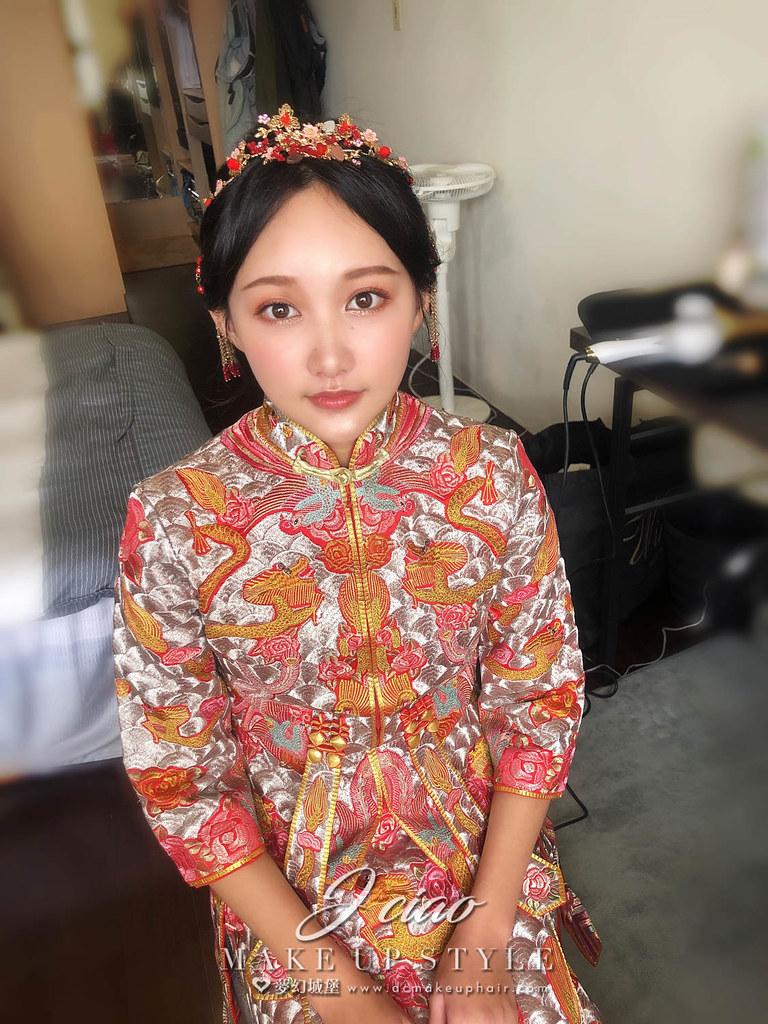 【新秘婕喬】bride薇馨 訂婚造型 / 龍鳳掛