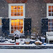 A warm courtyard house in the middle of wintry Amsterdam