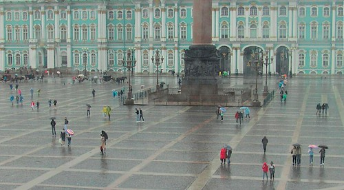 A rainy St. Petersburg