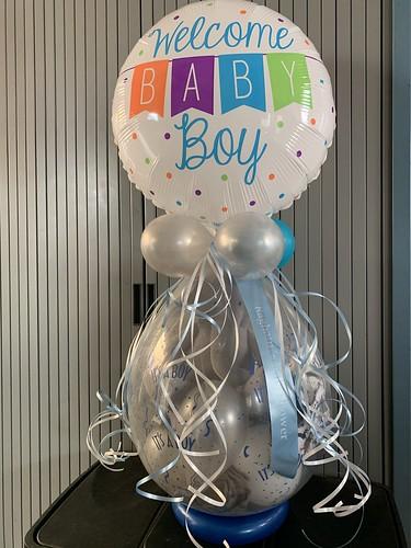 Kadoballon Geboorte Baby Jongen