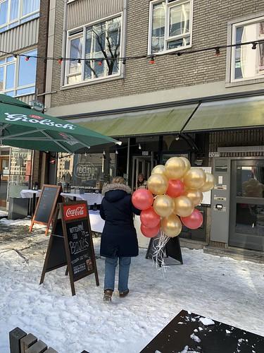 Heliumballonnen Valentijnsdag Rodin Cafe Rotterdam