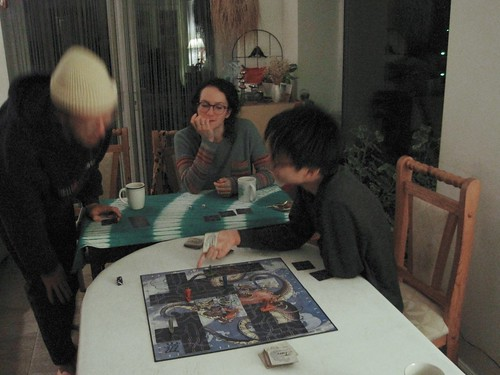 Vincent playing Tsuro, Jan. 2021