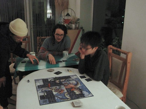 Vincent playing Tsuro, Jan. 2021 2