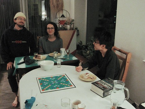 Vincent playing Scrabble, feb. 2021