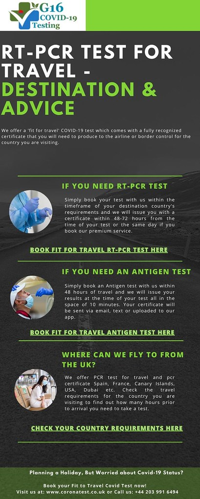 RT - PCR Test for Travel - Destination & Advice