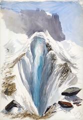Eismeer, Grindelwald, recto from Splendid Mountain Watercolours Sketchbook (1870) by John Singer Sargent. Original from The MET Museum. Digitally enhanced by rawpixel.