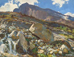 Simplon Pass (1911) by John Singer Sargent. Original from The National Gallery of Art. Digitally enhanced by rawpixel.