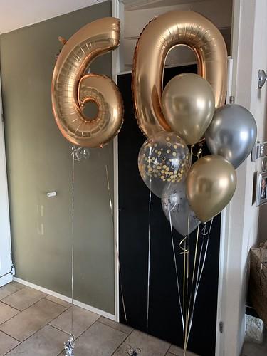 Ballonboeket Verjaardag 60 Jaar