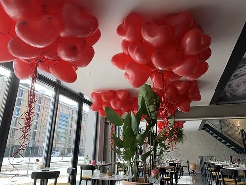 Heliumballonnen Hartballonnen Valentijnsdag Trattoria Sophia Rotterdam