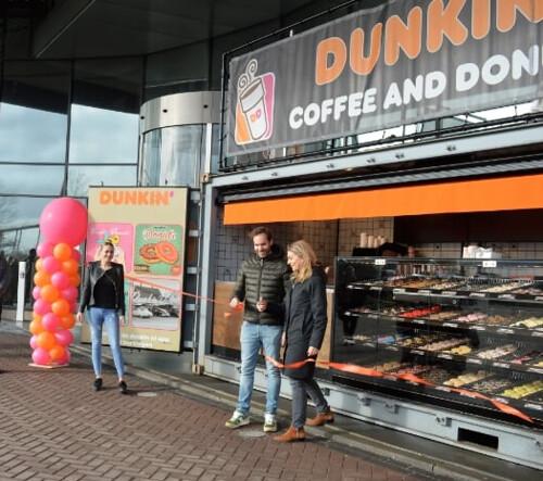 Ballonpilaar Breed Rond Opening Dunkin Donuts van der Valk Hotel Ridderkerk