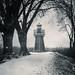 Der Leuchtturm Bunthäuser Spitze im Schnee