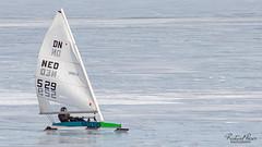 Ice sailing Lelystad