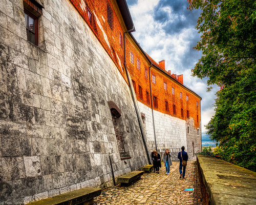 Northwestern external wall of the Wawel Castle, Krakow, Poland.  945-Edita
