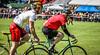Cycling in Balloch (Frank Morris on left)