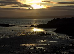 Photo of 'Morecombe Bay Sunset' from Jack Scout's Cliffs (National Trust) near Arnside Cumbria