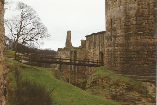 Ravenscraig Castle, Kirkcaldy, Fife c.1990. The entrance.