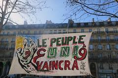 Rassemblement des algériens en soutien au Hirak. Et contre la répression. 21/02. Paris