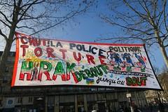 Rassemblement des algériens en soutien au Hirak et contre la répression. Paris. 21/02