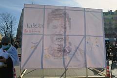 Rassemblement des algériens sympathisants du Hirak, contre la répression du mouvement. Paris.21/02