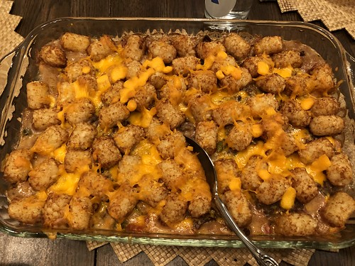 Tater Tot Hamburger Casserole by Wesley Fryer, on Flickr