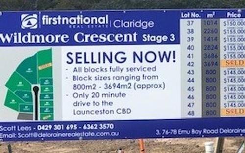 Lot 45 Wildmore Crescent, Exeter TAS