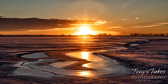 February 20, 2021 - An ice covered lake on the plains. (Tony's Takes)
