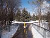 Bike path, winter