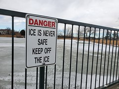 February 21, 2021 - Stay off the ice! (LE Worley)