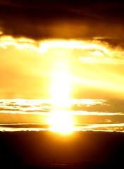 February 21, 2021 - A fantastic sun pillar in Adams County. (Bill Hutchinson)