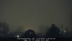 February 17, 2021 - Thick fog starts the day. (ThorntonWeather.com)