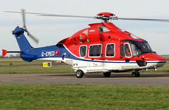 Photo of G-EMED taxiing down TWY Delta