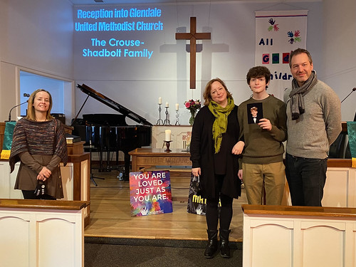 The Crouse-Shadbolt Family Joins Glendale United Methodist Church Nashville TN
