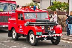 Photo of old fire engine parade Johnstone