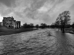 Photo of Brougham castle and the waters keep rising