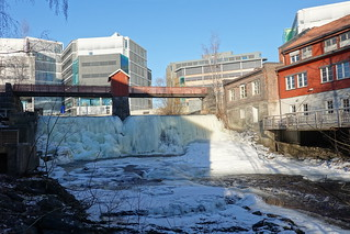 The Lysaker river in wintertime
