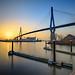 Sonnenaufgang mit Köhlbrandbrücke