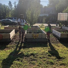 Plot registration is now open, link in the bio. We have 14 beds up for grabs! One per community member. 🌻 Broad Rock Community Garden is an example of community-led neighborhood transformation! The once vacant lot now features permeable pathways