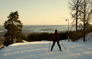 Cross country skiing at Holmenkollen, Oslo