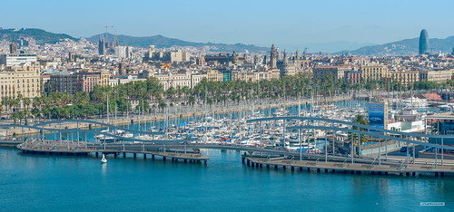 One of several marinas along Barcelona's sea-front developed following the 1992 Olympic Games, Catalonia, Spain.