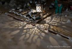 February 24, 2021 - Cool shadows on the snow. (ThorntonWeather.com)