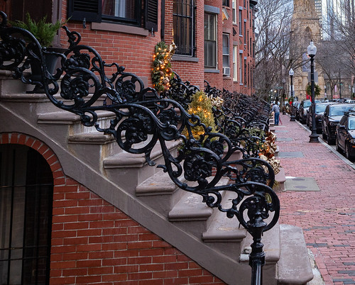 Ornate railing row on Rutland Square